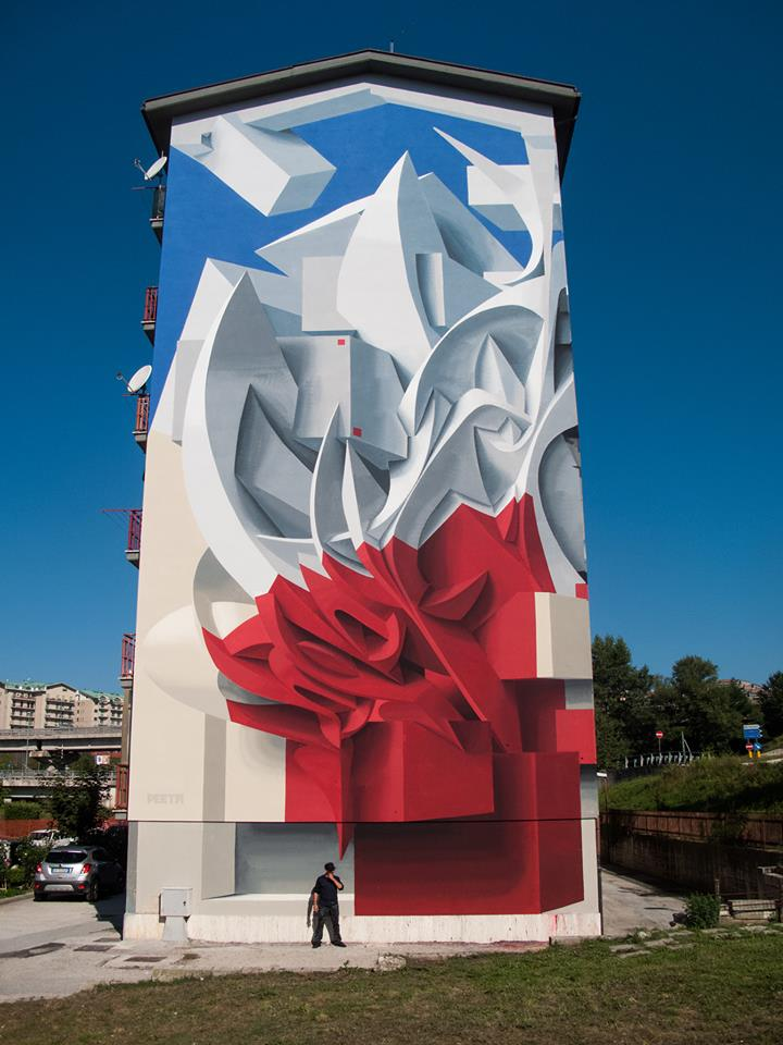 Anamorphic Art Piece By Peeta In Campobasso, Italy | THEINSPIRATION COM