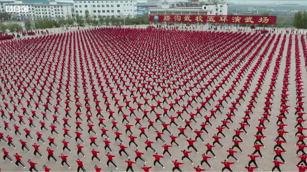 BBC Earth – Shaolin Kung Fu Training Caught From Satellite